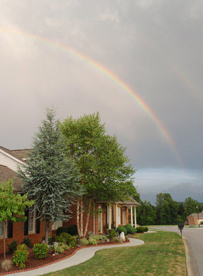 Rainbow over Barrington Villas, Powell, TN